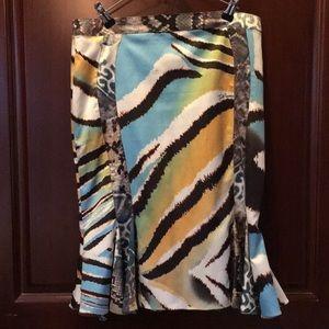 Just Cavalli - Animal Print Colorful Frill Skirt